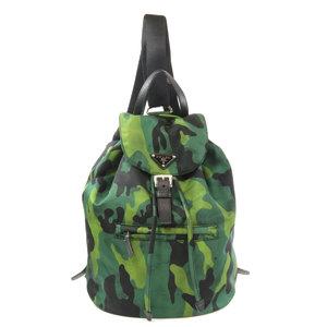 Prada BZ0032 camouflage pattern logo plate backpack daypack nylon ladies PRADA