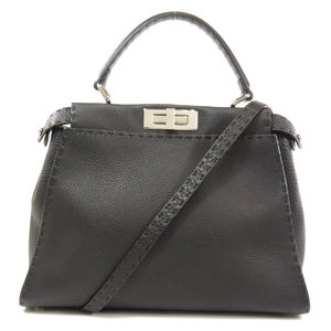 Fendi Peekaboo 2WAY Handbag Calf Ladies FENDI