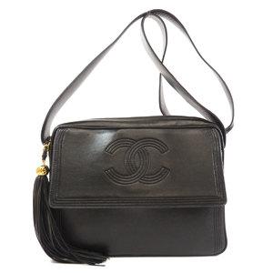 Chanel logo mark shoulder bag leather ladies CHANEL
