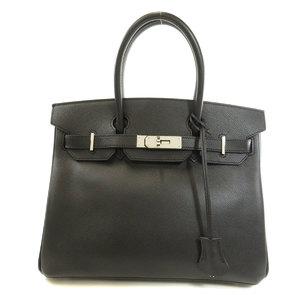 Hermes Birkin 30 Silver Hardware Black Handbag Epsom Ladies HERMES