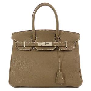 Hermes Birkin 30 Silver Hardware Etope Etoop Handbag Togo Ladies HERMES