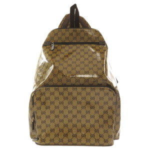 Gucci 179606 GG Crystal Backpack Daypack Coated Canvas Unisex GUCCI
