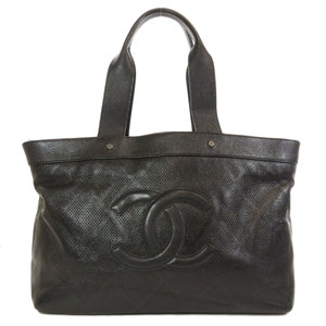 Chanel Coco Mark Tote Bag Leather Ladies CHANEL