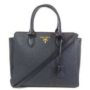 Prada 1BA189 logo Saffiano 2way handbag leather ladies PRADA