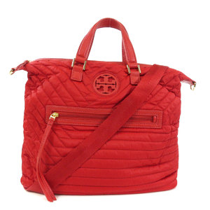 Tory Burch logo 2way tote bag nylon leather ladies