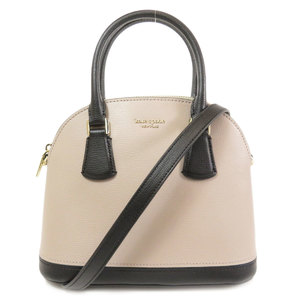 Kate spade logo 2way bicolor handbag leather ladies kate