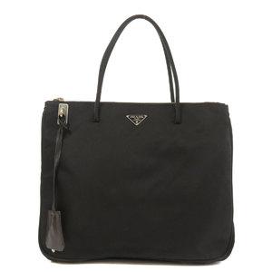 Prada BN0545 logo plate handbag nylon ladies PRADA