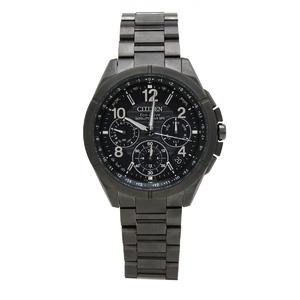 CITIZEN Atessa Satellite Wave Radio Solar Black Dial Super Titanium Mens Watch Wristwatch CC9075-52F