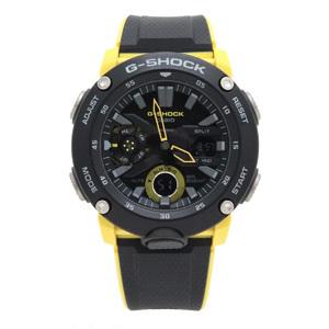 CASIO G-SHOCK analog carbon core guard structure black yellow men GA-2000-2AJF