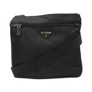 Prada Shoulder Bag Nylon Leather NERO Black