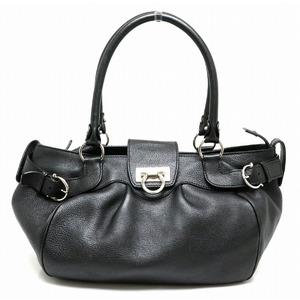 Salvatore Ferragamo Gancini Marissa Handbag Leather Black DH-21 A050