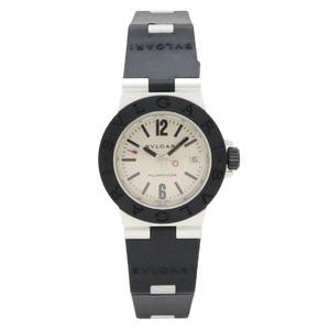 BVLGARI Bvlgari Aluminum 29MM Date Silver Dial Ladies QZ Quartz Watch AL29A