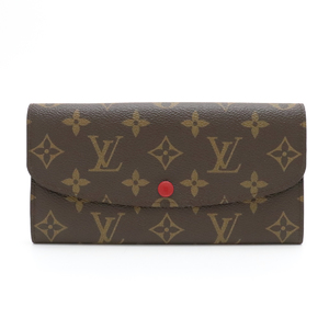 LOUIS VUITTON Louis Vuitton Monogram Portefoille Emily Rouge Red M60136