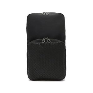 Bottega Veneta Intrecciato VAYE3 Bum Bag Nylon Canvas Leather Black 520117