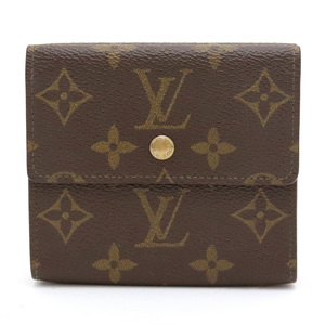 LOUIS VUITTON MONOGRAME PORT MONET VIER CARTO CREDIT DOUBLE HOCK WALLET W61