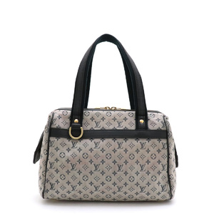 LOUIS VUITTON Louis Vuitton Monogram Mini Josephine PM Handbag Boston Bag Blue Canvas Leather M92214