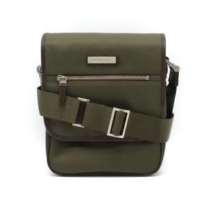 BURBERRY Shoulder bag diagonal shoulder Nylon leather Olive green Dark brown