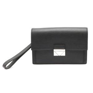 LOUIS VUITTON Louis Vuitton Epi Pochette Thames Second Bag Clutch Leather Noir Black M42742