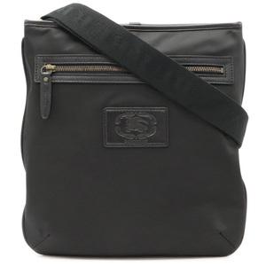 BURBERRY Shoulder Bag Leather Nylon Black