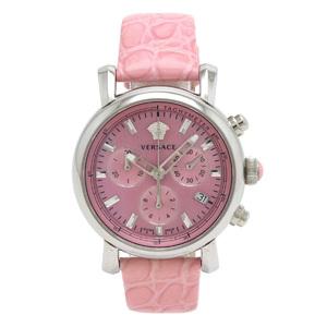 VERSACE Daygram Medusa Pink Shell Dial SS Leather Belt Ladies Quartz Watch