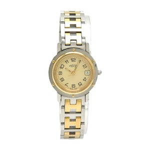 HERMES Clipper Gold Plated Steel Quartz Ladies Watch CL4.220
