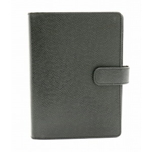 LOUIS VUITTON Louis Vuitton Taiga Agenda MM notebook cover 6-hole system leather Aldoise black R20222