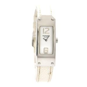 HERMES Hermes Kelly 2 Watch White Dial Ladies Quartz Belt □J Engraved KT1.210