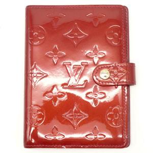 LOUIS VUITTON Louis Vuitton Monogram Verni Agenda PM 6 hole type notebook cover system enamel calf Pomme Dahl red R21016