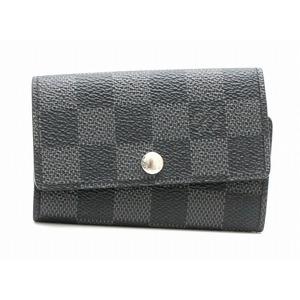 LOUIS VUITTON Louis Vuitton Damier Graphite Multicle 6 6-key case N62662