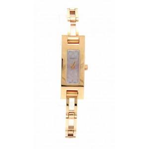 GUCCI Pink Dial GP Gold Plated Shell Ladies Quartz Watch 3900L YA039549