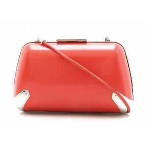 BALENCIAGA Party bag Clutch 2WAY Shoulder Handbag Leather Red Silver hardware 325801
