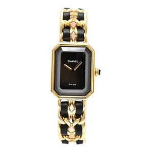 CHANEL Premiere Size M Gold Plated Quartz Ladies Watch H0001