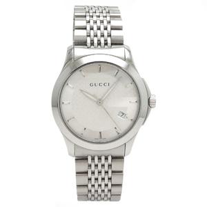 GUCCI Gucci G Timeless Collection Date SS Silver Dial Men Quartz Wrist Watch YA126406 126.4