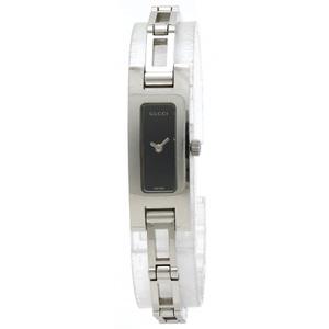 GUCCI Gucci Black Dial SS Ladies QZ Quartz Wrist Watch 3900L