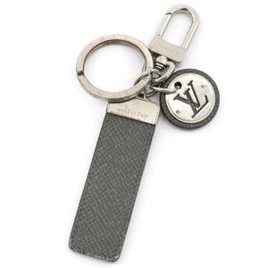 LOUIS VUITTON Louis Vuitton Neo LV Club Keychain Key Ring Bag Charm Taiga Calf Glacier M00034
