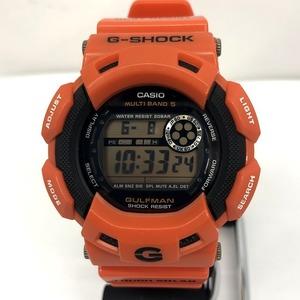 G-SHOCK CASIO Watch GW-9100R-4 GULFMAN Gulfman Men In Rescue Orange Black Round Face Digital Radio Solar Tough 418475 RY2876