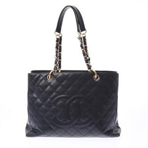 シャネル(Chanel) CHANEL シャネル マトラッセ GSTトートバッグ  黒 ゴールド金具 レディース キャビアスキン トートバッグ