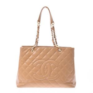 シャネル(Chanel) CHANEL シャネル マトラッセ GSTチェーントート ベージュ ゴールド金具 レディース キャビアスキン トートバッグ