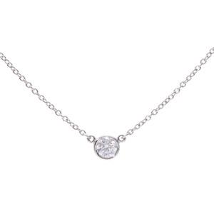 ティファニー(Tiffany) TIFFANY&Co. ティファニー バイザヤード ネックレス レディース PT950 ダイヤ ネックレス