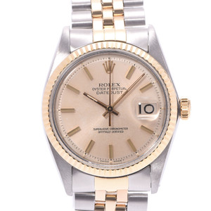ROLEX Datejust 1601 White Gold Steel Automatic Mens Watch
