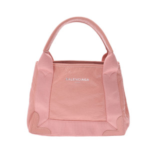 BALENCIAGA navy hippo XS 2WAY bag pink ladies calf handbag