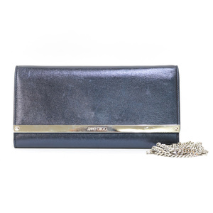 JIMMY CHOO Shoulder Bag Chain Wallet Purple Ladies Men