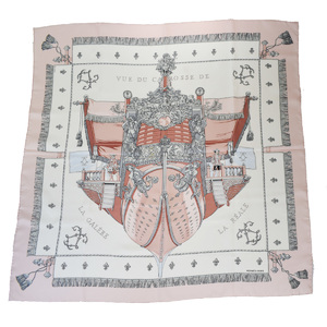 エルメス(Hermes) VUE DU CAROSSE DE シルク スカーフ ピンク