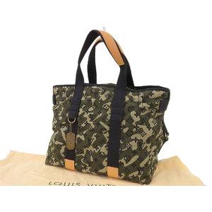 LOUIS VUITTON Louis Vuitton tray camouflage monogram canvas tote bag Takashi Murakami limited pattern M95783