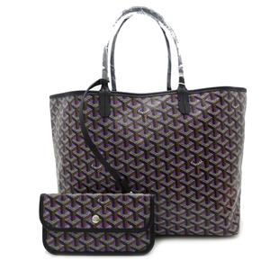 Goyard Saint Louis PM Ladies Tote Bag Coated Canvas Purple