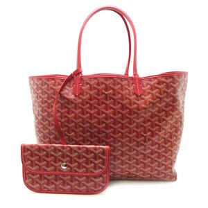Goyard Saint Louis PM Ladies Tote Bag PVC Coated Canvas Red