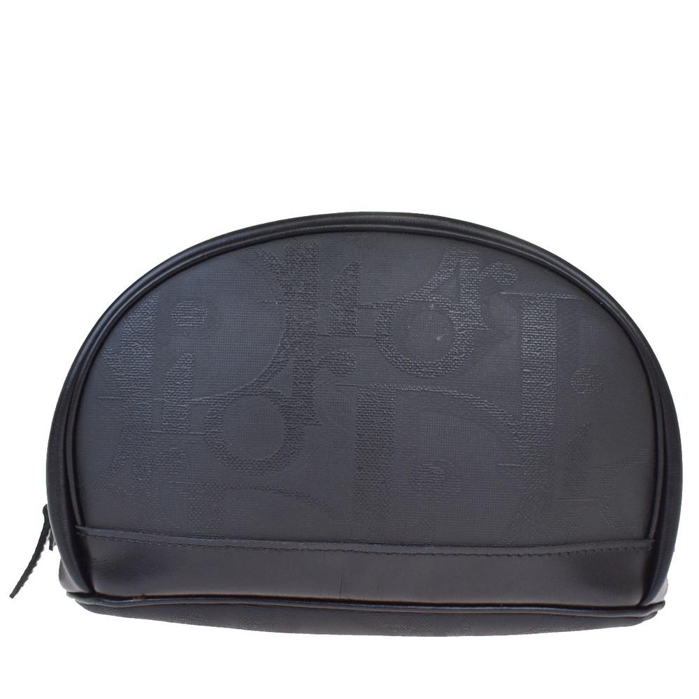 クリスチャン・ディオール(Christian Dior) トロッター PVC クラッチバッグ ブラック