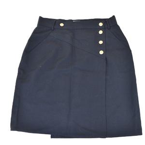シャネル(Chanel) カジュアル 巻きスカート ブラック