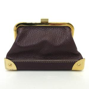Louis Vuitton wallet Porto Monet Vienois Gama mouth coin case purse brown