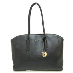 Furla Full La Tote Bag Black Semi Shoulder Ladies Leather